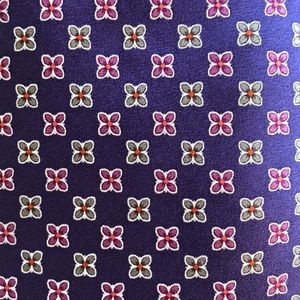 Valentino 100% Silk purple print tie
